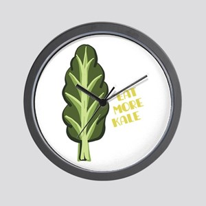 Eat More Kale Wall Clock