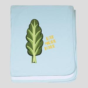 Eat More Kale baby blanket