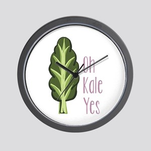 Oh Kale Yes Wall Clock