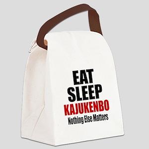 Eat Sleep Kajukenbo Canvas Lunch Bag