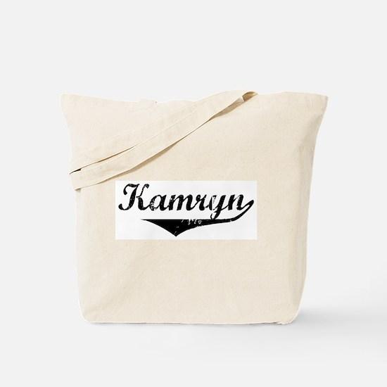 Kamryn Vintage (Black) Tote Bag