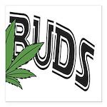 Best Buds Square Car Magnet 3