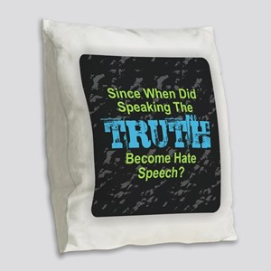 Truth Burlap Throw Pillow