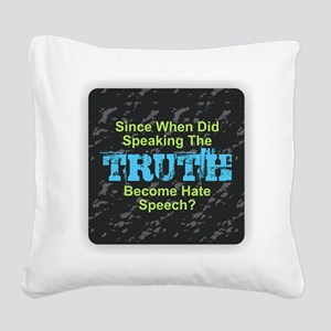 Truth Square Canvas Pillow