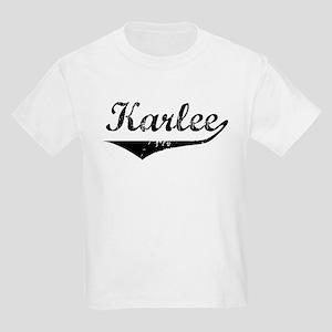 Karlee Vintage (Black) Kids Light T-Shirt