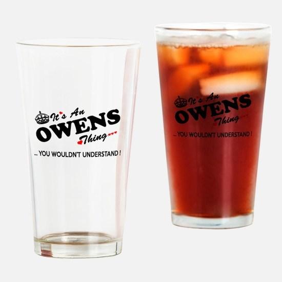 Unique Owen Drinking Glass