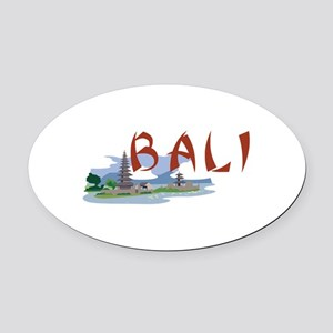 Bali Oval Car Magnet