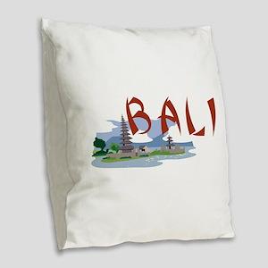 Bali Burlap Throw Pillow