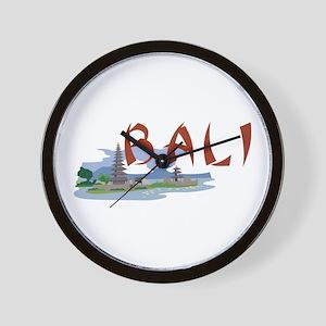 Bali Wall Clock