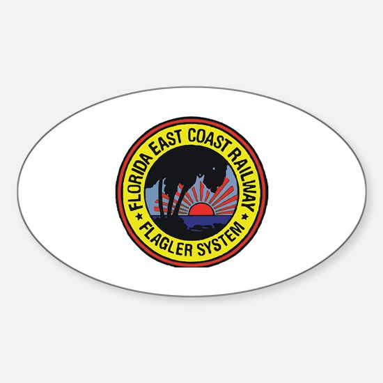 Cool Train station Sticker (Oval)
