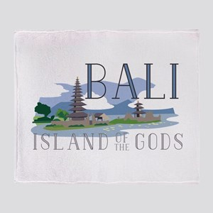 Bali Island Of Gods Throw Blanket