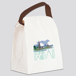Ulun Danu Bali Canvas Lunch Bag