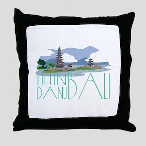 Ulun Danu Bali Throw Pillow