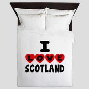 I Love Scottland Queen Duvet