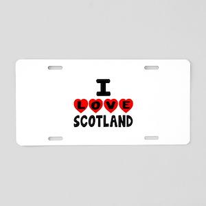 I Love Scottland Aluminum License Plate
