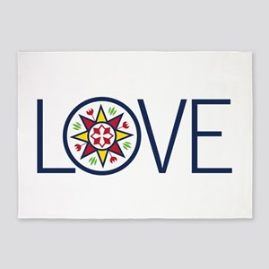 Love Decal 5'x7'Area Rug
