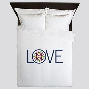 Love Decal Queen Duvet