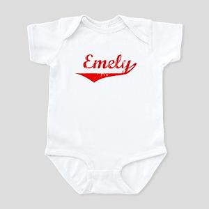 Emely Vintage (Red) Infant Bodysuit