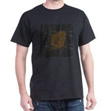 Cool Gold Leaf Black Denim T-Shirt