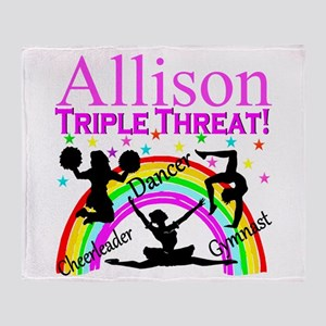 TRIPLE THREAT Throw Blanket