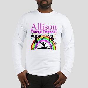 TRIPLE THREAT Long Sleeve T-Shirt