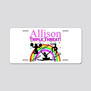 TRIPLE THREAT Aluminum License Plate