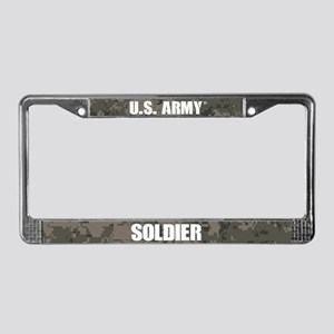 U.s. Army Soldier Camo License Plate Frame