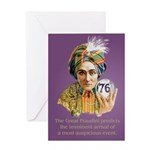 Birthday: Crystal Ball, Age-76 Greeting Cards