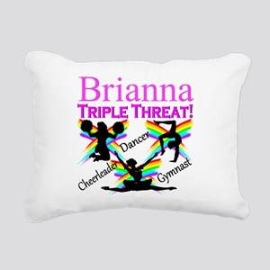 TRIPLE THREAT Rectangular Canvas Pillow