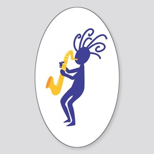 Kokopelli 3 Oval Sticker