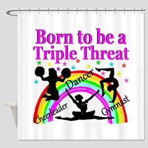 TRIPLE THREAT Shower Curtain