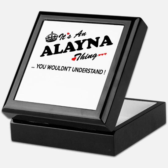 Cute Alayna Keepsake Box