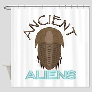 Trilobite Ancient Aliens Shower Curtain
