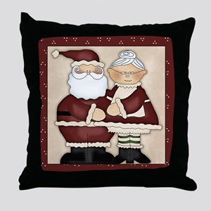 Santa and Mrs. Clause Throw Pillow