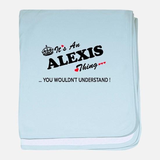 Cute Alexis baby blanket