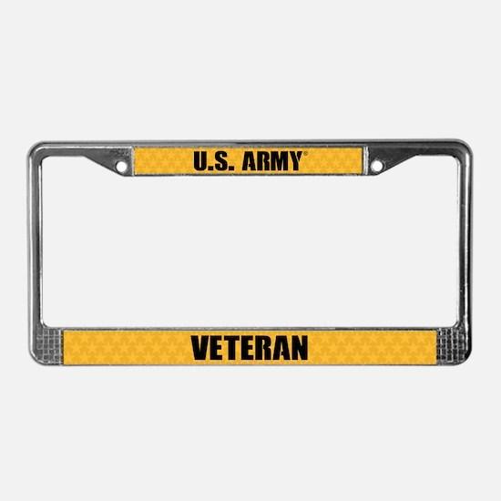 U.s. Army Veteran License Plate Frame