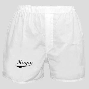 Kaya Vintage (Black) Boxer Shorts