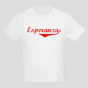 Esperanza Vintage (Red) Kids Light T-Shirt