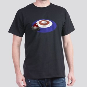 CURLING T-Shirt in Black, Red, Navy or Olive Green