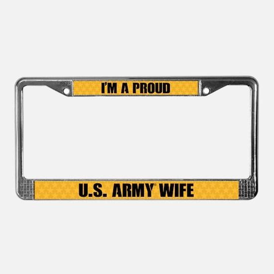 U.s. Army Wife License Plate Frame