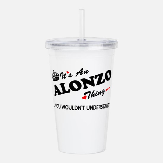 Unique Alonzo Acrylic Double-wall Tumbler