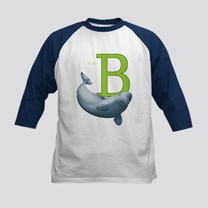B Is For Beluga Kids Tee Baseball Jersey