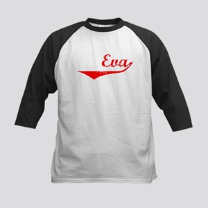 Eva Vintage (Red) Kids Baseball Jersey