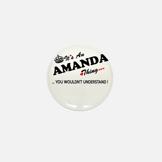 Cute Amanda Mini Button