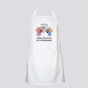 Personalized Funny Golf Couple Cartoon Light Apron