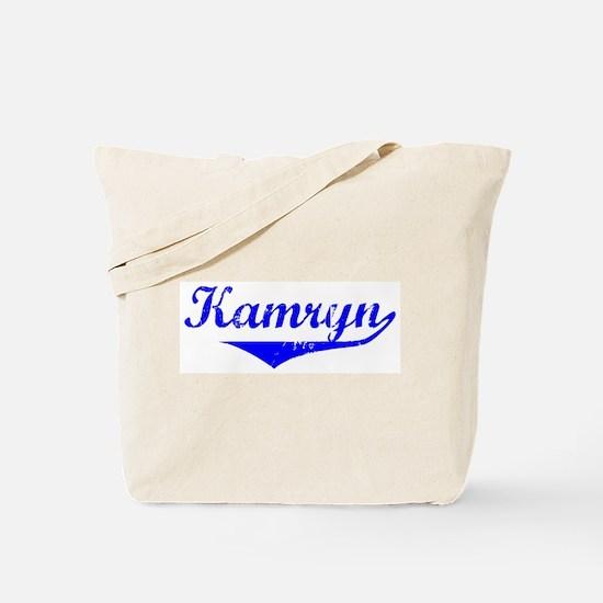 Kamryn Vintage (Blue) Tote Bag