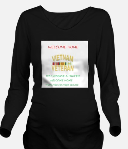 Welcome Home Long Sleeve Maternity T-Shirt
