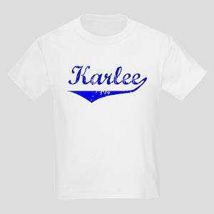 Karlee Vintage (Blue) Kids Light T-Shirt
