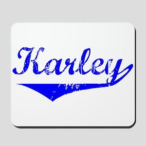 Karley Vintage (Blue) Mousepad