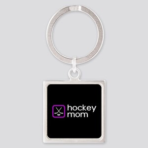 Hockey Mom (Purple) Square Keychain
